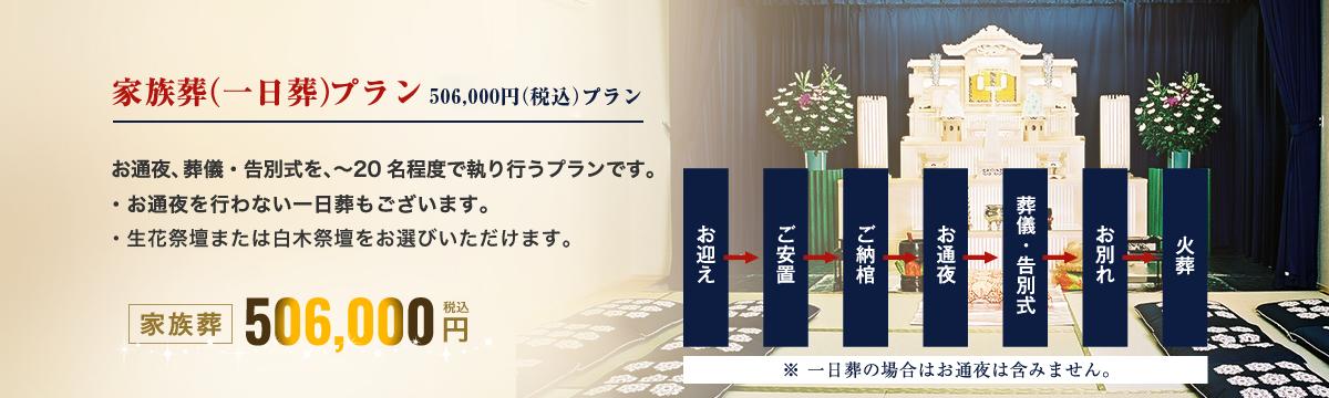 家族葬(一日葬)425,000円プラン
